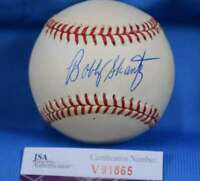 Bobby Shantz Jsa Coa Signed American League Oal Baseball Autograph Authentic