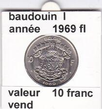 FB 2 )pieces de baudouin  10 francs 1969  belgie