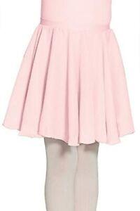 Mondor girls chiffon dance costume pink skirt pull on 6x 7