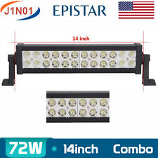 "14"" 72W LED Work Light Spot Flood Jeep Offroad ATV SUV Truck Lamp Driving 12V24V"