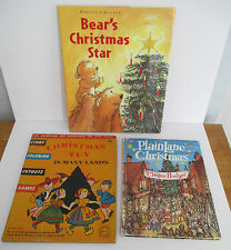 Lot of 3 Illustrated Children's CHRISTMAS Books