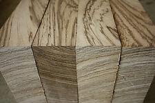 Zebrawood / Zebrano bowl blank carving block 210 x 210 x 76-78mm Grade A