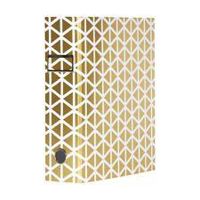 Otto A4 Lever Arch File 70mm Foil Geometric Gold