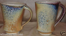 VANESSA GREENE POTTERY SET OF 2 MUGS 12 OZ MULTICOLOR