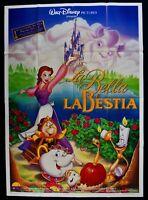 Manifesto The Bella And The Beast Walt Disney Beauty Mostro M313