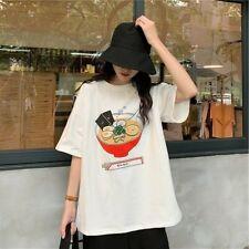 Women Girl Cute T-shirt Blouse Tops Tee Japanese Kawaii Cartoon Casual Loose