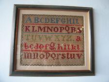 Antique 19th Century Sampler of Abc's