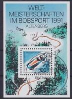 Bund Block 23 mit ESST Ersttag SST Bonn, Bob WM 1991, used