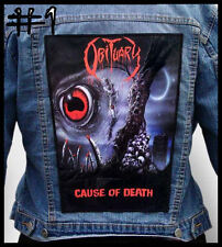 OBITUARY   --- Huge Jacket Back Patch Backpatch --- Various Designs