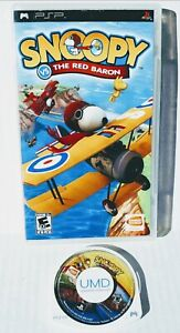 Sony PSP PlayStation Portable Snoopy vs the Red Baron rare Flying Air shooter Gm