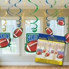 Football Sports 12pcs Hanging Swirl Decorations Birthday Party Supplies Favors