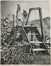 LITHOGRAPH 1940s ~ ELLA FILLMORE LILLIE ~ Woman Artist MUSEUM QUALITY