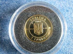 "2005 2 HRYVNI Ukraine 1/25 OZ Gold ""Skythen"""