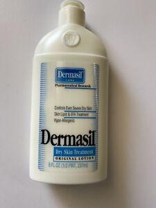Dermasil Dry Skin Lotion Treatment HYPO-ALLERGENIC Original 8 oz Flip Top