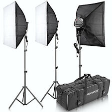 "Neewer 3000W 5500K 20""x28""/50x70cm 5 Socket Studio Lighting Kit w/ Carrying Case"