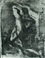 Rudolf Rothe Komposition Radierung datiert 1963 signiert Nachlass