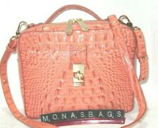 Brahmin Evie Poppy Coral Melbourne Leather Top Handle Crossbody Bag NWT $265