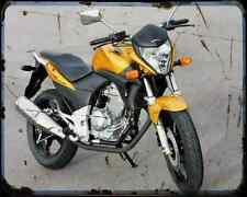 Honda Cb 300R A4 Metal Sign Motorbike Vintage Aged