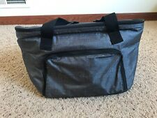 *Retired* Thirty One Family Picnic Thermal Cooler Charcoal Crosshatch Gray Nip