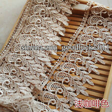 1 Yard,Embroidered Lace Edge Trim Ribbon Wedding Applique DIY Sewing Crafs FL64