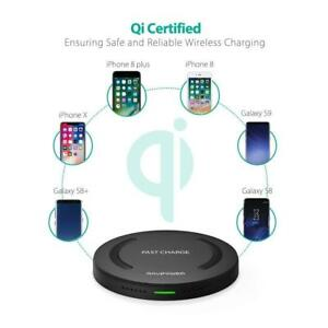 RAVPower Qi-Certified Wireless Charger For iPhone XS/Max/XR/X/8/Plus Galaxy S9/+