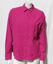 FOXCROFT Hot Pink Non-Iron Cotton Stretch Fitted Fit Blouse Shirt Top size 12