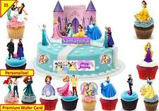 Disney Princess Castle Scene Cup Cake Scene Toppers Wafer Edible STAND UP CUSTOM