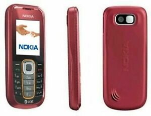 Nokia 2600 Classic AT&T GSM Candybar red Cellphone