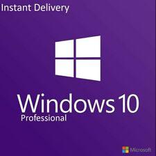 Instant Windows 10 Professional Pro 32 & 64 Bit chiave di licenza CODICE DI ATTIVAZIONE