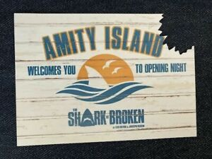 Amity Island The Shark is Broken- The Play promotional postcard