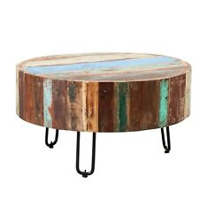 Rustic Design Drum Coffee Table Reclaimed Timber Collection CS23