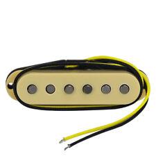 New Alnico 5 FD Strat Guitar Pickup Single Coil Bridge Pickup Staggered Yellow