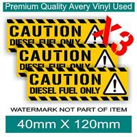 CAUTION DIESEL FUEL ONLY DECAL STICKER X3 PACK SELF ADHESIVE OH&S STICKERS