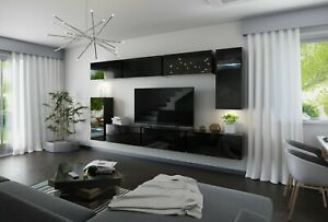 Modern Living Entertainment Wall Unit TV Stand BOXING 3 Gloss - 2 Colours