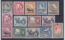 KUT 1954, QEII, SG 167-180, MNH VF, COMPLETE SET