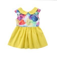 2-7T Toddler Kids Baby Girl Summer Dresses Tutu Backless Party Sundress Clothes