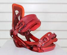 New 2015 Salomon Balance Mens Snowboard Bindings Medium Color Red