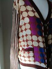 Designer Marni for H & M contrast woven cardigan size L UK 16 EU 42 US 12