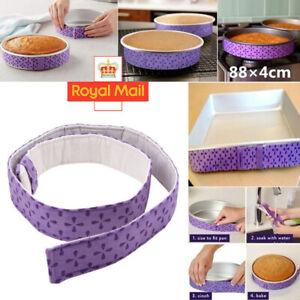 2Pcs Wilton Bake-Even Strips Belt Bake Even Bake Moist Level Cake Baking Tool UK