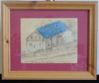"""Norddeutsche Künstler: Jürgen Müller-Dühring  """"Haus mit blauem Dach"""" 1933"""