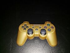 Sony PlayStation PS3 DualShock 3 Sixaxis Gold Wireless OEM Controller CECHZC2U