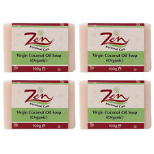 VIRGIN COCONUT OIL SOAP BY ZEN Pk 4  Cold process first extracts of VCO