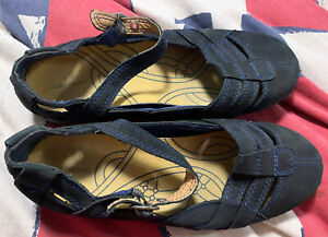 Colorado Black Leather Size 7.5 Womens Flat Shoes - Brand New