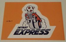 1979 Topps NASL Soccer sticker card Detroit Express