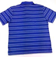 Ben Hogan Men's Size XL Golf Polo Blue Stripe Cotton Polyester Short Sleeves VGC