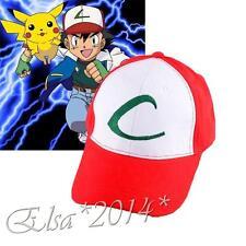 Anime Pokemon Ash Ketchum Embroidered Hat Cosplay adjustable Baseball Cap New
