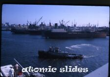 1963 kodachrome Photo slide USS Vancouver LPD-2 US Navy ship  military tugboat