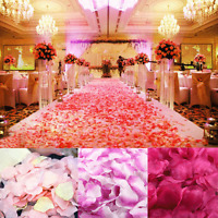 1000/2000PC Silk Rose Artificial Petals Wedding Party Flower Favors Decoration v