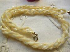 Collier vintage torsade de nacre perle navette ras cou à porter ou détourner