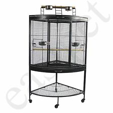 Corner Parrot Cage Large Bird African Grey Amazon Parakeet Cockatiel Cockatoo